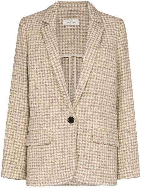 Шерстяной классический пиджак с карманами с отворотом Isabel Marant étoile