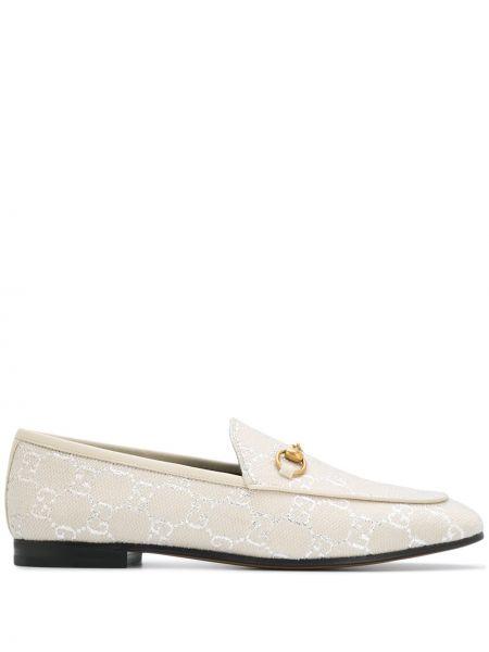 Loafers z klamrą z prawdziwej skóry Gucci