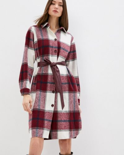 Платье рубашка - бордовое Sa.l.ko