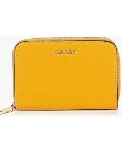 Желтый кошелек из искусственной кожи Mango