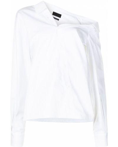 Biała koszula bawełniana z długimi rękawami Rta