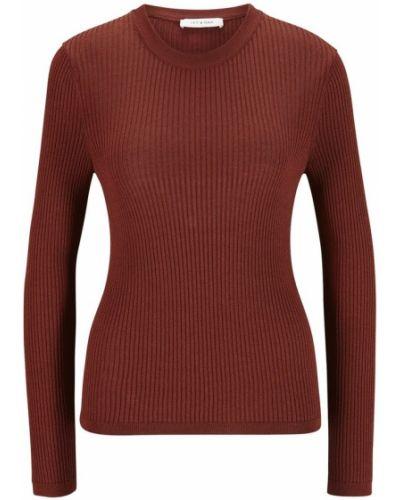 Czerwona koszulka z długimi rękawami Ivy & Oak