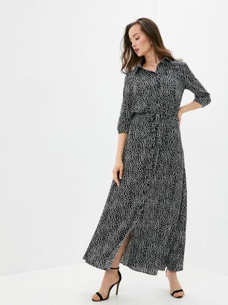 Платье платье-рубашка черное Trendyangel