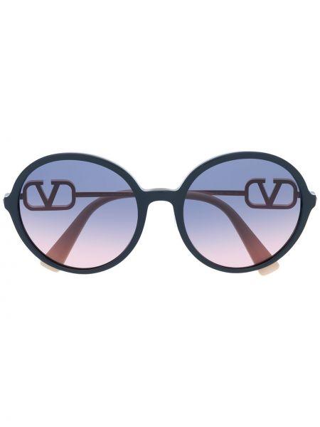Солнцезащитные очки хаки круглые Valentino Eyewear
