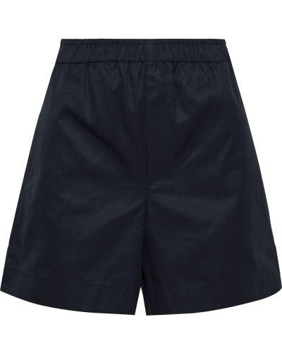 Ватные хлопковые черные шорты Helmut Lang