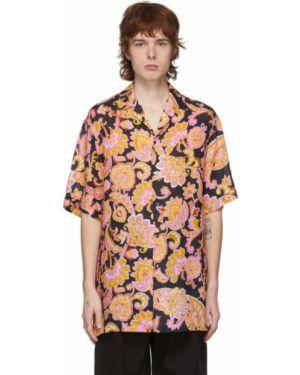 Koszula krótkie z krótkim rękawem z kołnierzem otwarty Gucci