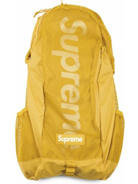 Żółty plecak z klamrą Supreme