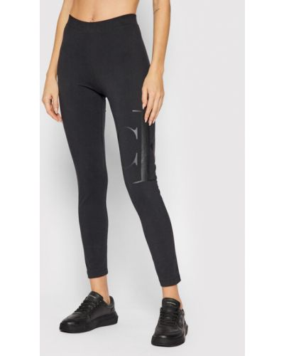 Legginsy - czarne Calvin Klein Jeans