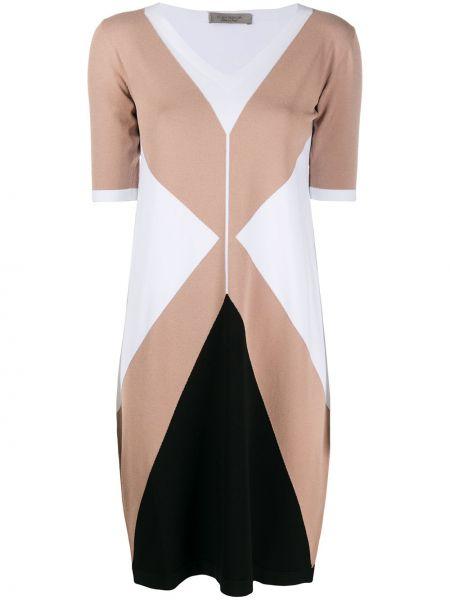 С рукавами черное платье миди с вырезом D.exterior
