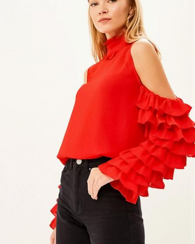 Блузка с рюшами красная Lost Ink.