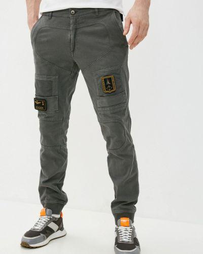 Повседневные серые брюки Aeronautica Militare