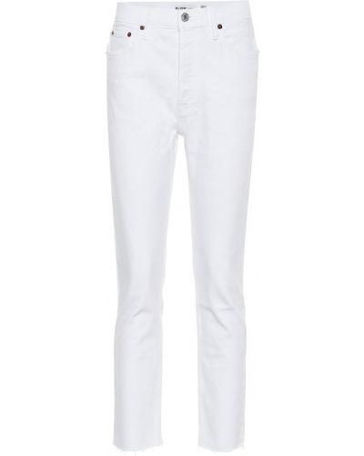 Ватные хлопковые зауженные белые укороченные джинсы Re/done