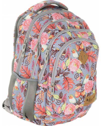 Różowy plecak na laptopa szkolny materiałowy Always Wild