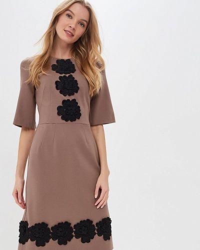 Повседневное платье осеннее бежевое Madam T