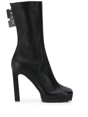 Czarny buty z prawdziwej skóry Off-white