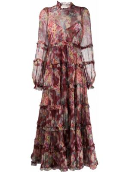 Облегающее платье макси с цветочным принтом Zimmermann