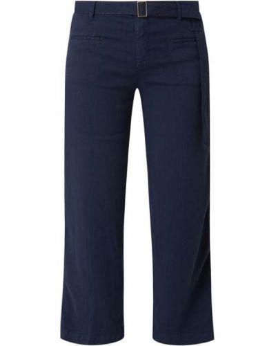 Niebieskie spodnie z paskiem Rosner
