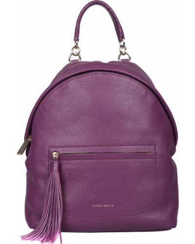 Кожаный рюкзак - фиолетовый Coccinelle
