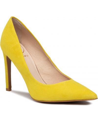 Półbuty skórzane - żółte Baldowski