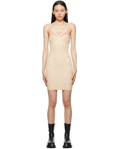 Платье из фатина - бежевое Burberry