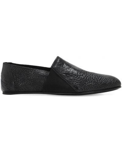 Czarne loafers skorzane The Last Conspiracy