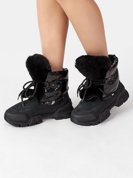 Кожаные ботинки - черные Fabi