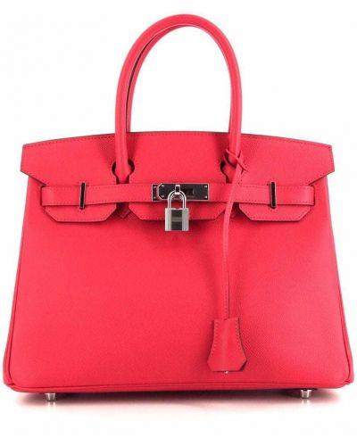 Różowa torebka srebrna Hermes