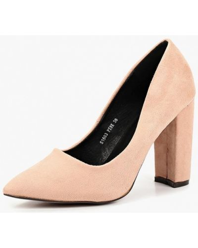 Туфли на каблуке осенние велюровые Sweet Shoes