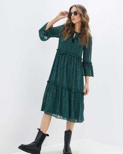 Прямое зеленое платье Yumi