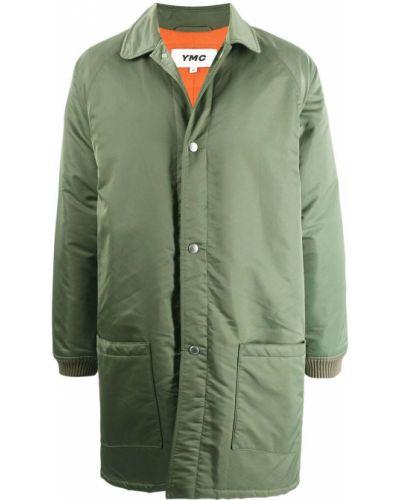 Zielony długi płaszcz Ymc