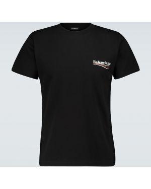Koszula z logo czarna Balenciaga