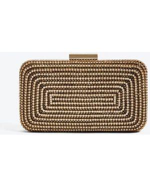 Czarna złota kopertówka z haftem Marciano Guess