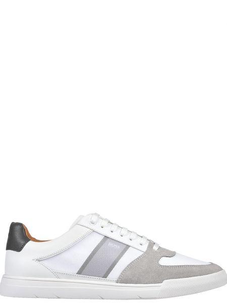 Кожаные кроссовки - белые Hugo Boss