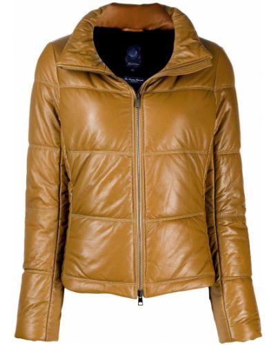 Прямая коричневая длинная куртка Jacob Cohen
