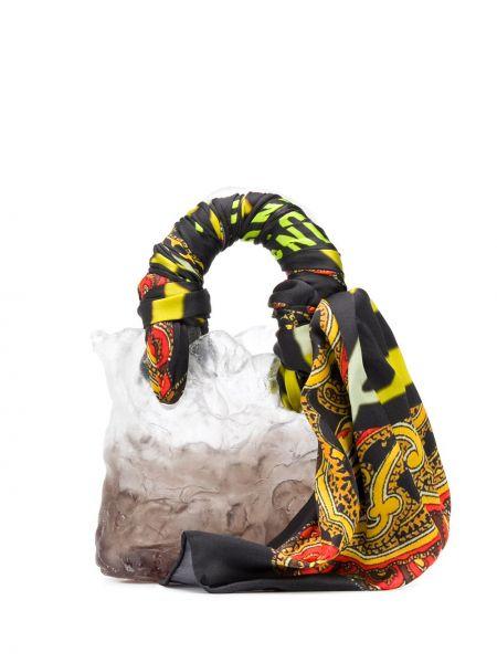 Черная сумка-тоут с декоративной отделкой Ottolinger