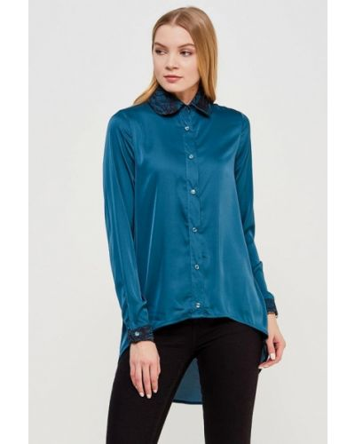Синяя блузка с длинным рукавом с длинными рукавами Sahera Rahmani