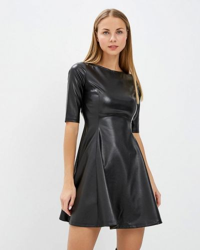 Платье осеннее черное Louitex