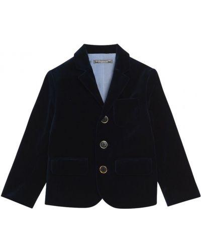 Пиджак бархатный на пуговицах Bonpoint