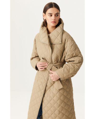 Зеленое пальто с карманами Sela