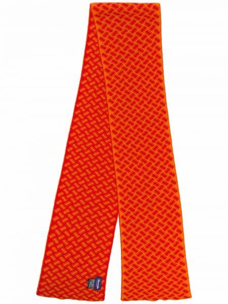 Z kaszmiru szalik - pomarańczowy Drumohr
