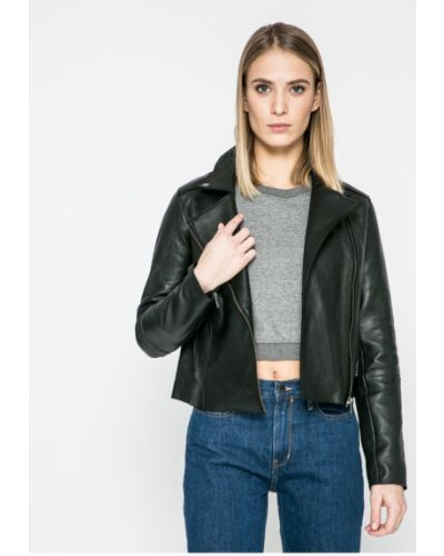 Джинсовая куртка кожаная облегченная Pepe Jeans