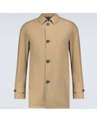 Wodoodporny płaszcz przeciwdeszczowy od płaszcza przeciwdeszczowego z mankietami Herno