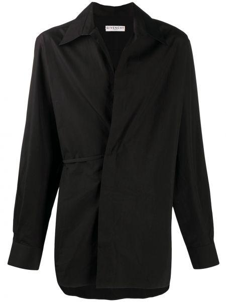 Bawełna asymetryczny czarny koszula z kieszeniami Givenchy