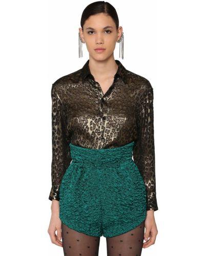 Классическая рубашка с воротником с манжетами золотая Saint Laurent