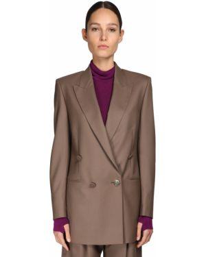 Коричневая куртка двубортная с карманами Petar Petrov
