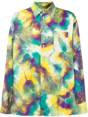 Koszula z długim rękawem z kieszeniami prosto Marni