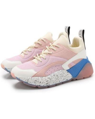 Розовые кроссовки на шнуровке Stella Mccartney