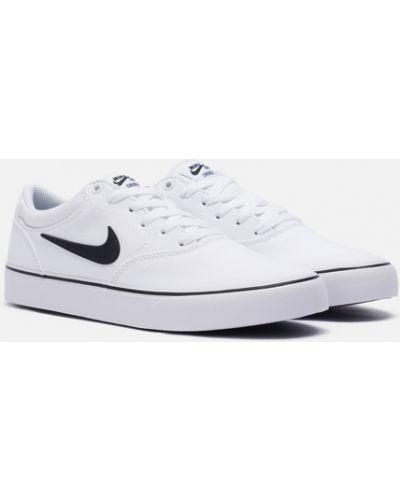 Белые текстильные кроссовки Nike Sb