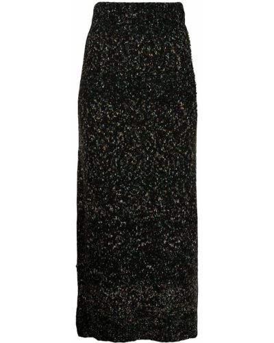 С завышенной талией вязаная черная юбка Altuzarra