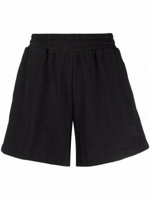 Черные шорты из полиэстера Federica Tosi